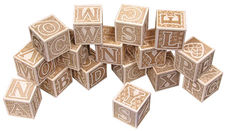 Natural ABC Block Set from Maple Landmark Woodcraft