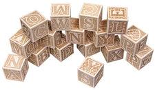 Natural ABC Block Set from Maple Landmark Woodcraft