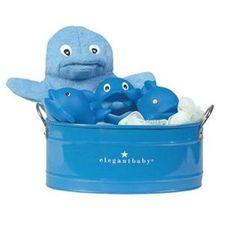 Elegant Baby - Baby Bath Bucket Set-Dolphin