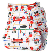 Easy Fit Diaper in London Print