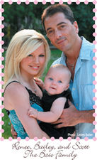 The Baio Family:  Renee', Bailey & Scott