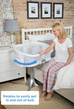 The Bassinest rotates 360 degrees to make getting out of bed easy.