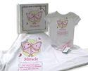 """NEW! """"Miracle"""" onesie & blanket gift set w/ keepsake gift box"""