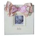 bebe - 12x12 yellow frame with 4x4 opening.  Available in blue crystals and ribbon for boy