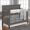 White Weave Mix and Match Crib Bedding by Liz and Roo