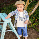 Little Mini Man Blue Fall 2015 News Boy inspired.