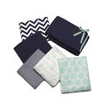 Monogram Basics:  Navy and Mint Green